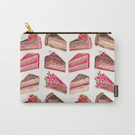 Cake Slices – Pink & Brown Palette Carry-All Pouch