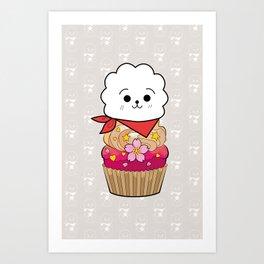 BT21 RJ Cupcake BTS JIN 방탄소년단 Kim Seokjin Art Print
