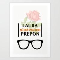 alex vause Art Prints featuring Laura Prepon | Alex Vause by Sandi Panda