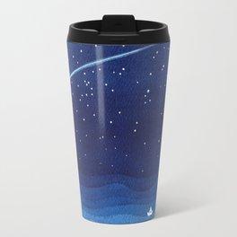 Falling star, shooting star, sailboat ocean waves blue sea Travel Mug