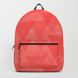 Gentle light red triangles in the intersection and overlay. Backpack