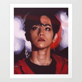 EXO Baekhyun Stage Fanart Art Print