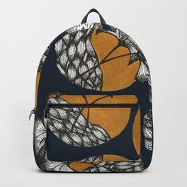 Gingko | Blue Illustration Backpack