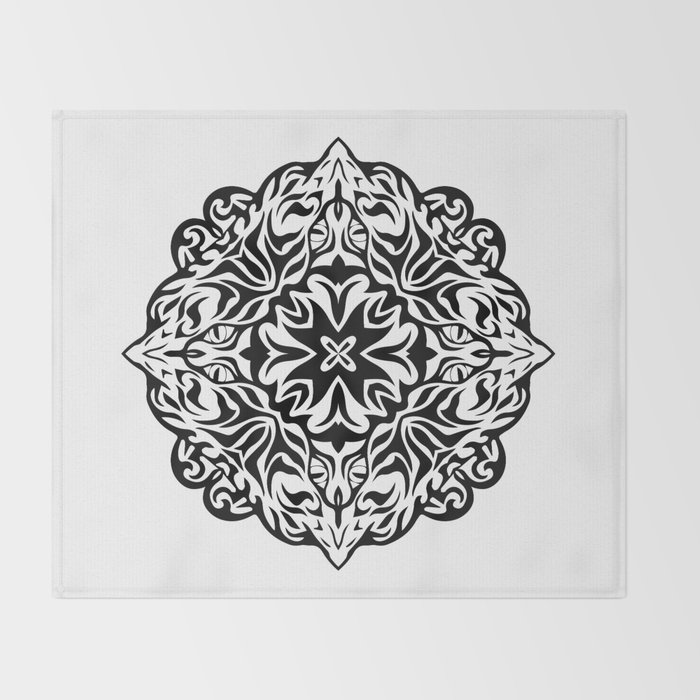 5083bafd7 Polynesian style tattoo mandala Throw Blanket by annaki | Society6
