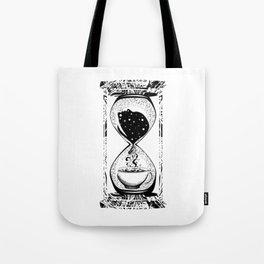 Morning coffee hourglass Tote Bag