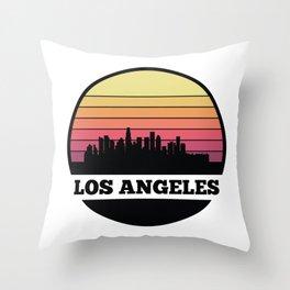 Los Angeles Skyline Throw Pillow