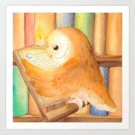 Library Owl Art Print