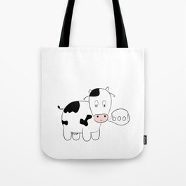 SOLD! Scary Cow - Inspired by a True Incident! Tote Bag