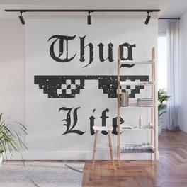 Thug life glasses print Wall Mural