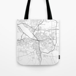 Minimal City Maps - Map Of Syracuse, New York, United States Tote Bag