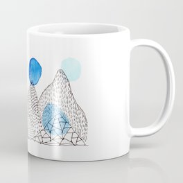 Flying high through the mountains Coffee Mug