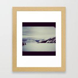 mountain snow winter wonderland Framed Art Print