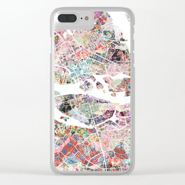 Stockholm map Clear iPhone Case