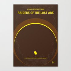 No068 My Raiders Lost A minimal movie poster Canvas Print