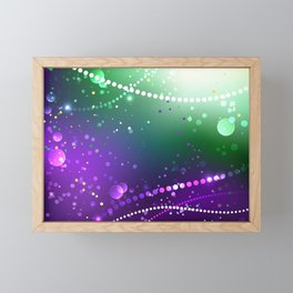 Festive Purple Background ( Mardi Gras ) Framed Mini Art Print