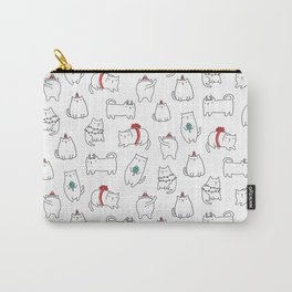 Fat Christmas cats Carry-All Pouch