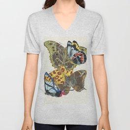 Emile-Allain Séguy - Papillons Unisex V-Neck