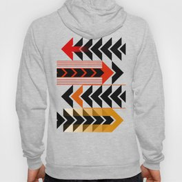 Colourful Arrows Graphic Art Design Hoody
