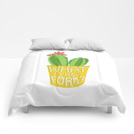 what the fork? cactus (The Good Place) Comforters