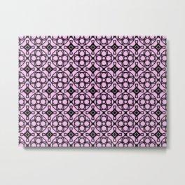 Pink decorative tiles Metal Print