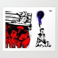 political Art Prints featuring Political graffiti by EllaEngland