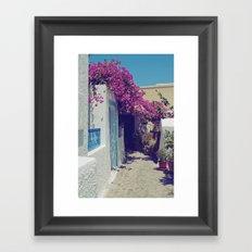 Santorini Walkway VI Framed Art Print
