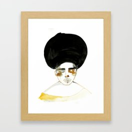 Serenity with Fluffy Afro Framed Art Print