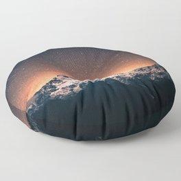 Magical Mountain #galaxy #photography Floor Pillow