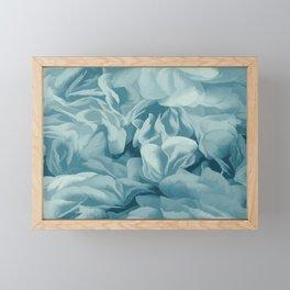 Soft Baby Blue Petal Ruffles Abstract Framed Mini Art Print