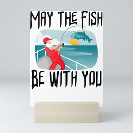 May the fish be with you Mini Art Print