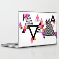 coachella Laptop & iPad Skins featuring Sunrise by Andrea_Mendez