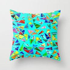 Triangle Mania Throw Pillow