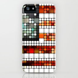 Retro Abstract American Flag iPhone Case