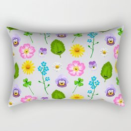 Pressed Flowers Rectangular Pillow