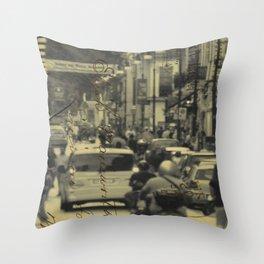 Sorrento street postcard Throw Pillow