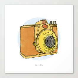 So Analog - Agfa Clack Retro Vintage Camera Canvas Print