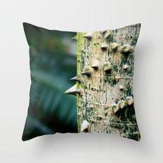 Thorny tree Botanical Photography Throw Pillow