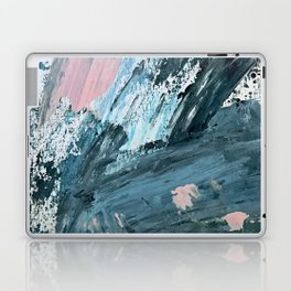 Wilmington: a colorful abstract acrylic piece in pinks and blues Laptop & iPad Skin