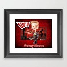 The legendary...Barney Stinson! Framed Art Print
