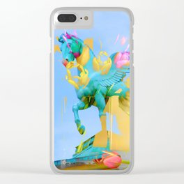 The Fly of Angelic Flowers - Digital Mixed Fine Art Clear iPhone Case