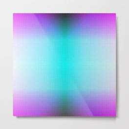 Purple Blue Black Ombre Hexagons Bi-lobe Contact binary Metal Print