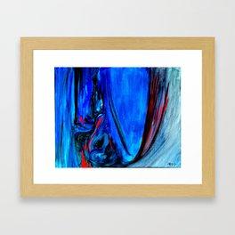 All Too Blue Framed Art Print