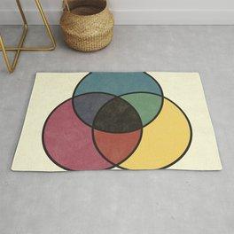 Matthew Luckiesh: The Subtractive Method of Mixing Colors (1921), vintage re-make Rug