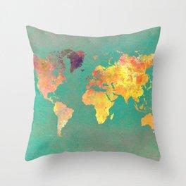 world map 103 #worldmap #map Throw Pillow