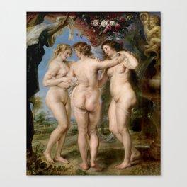Las Tres Gracias - Pedro Pablo Rubens Canvas Print