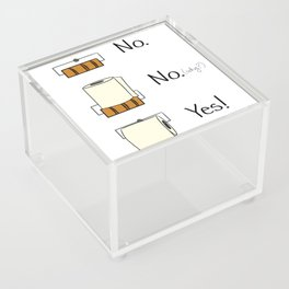 Bathroom Rules Acrylic Box