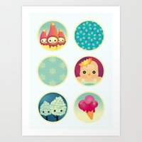little people collection Art Print