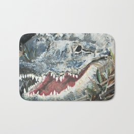 Gray Alligator Bath Mat
