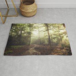 german rain forest Rug