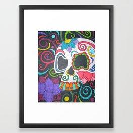 One Skull Framed Art Print